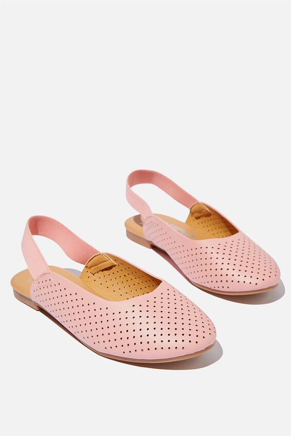 Flat Slingback, EARTH CLAY PERFORATED