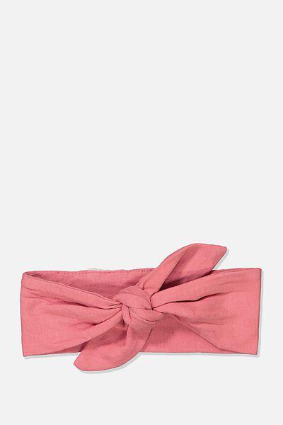 The Tie Headband, RUSTY BLUSH