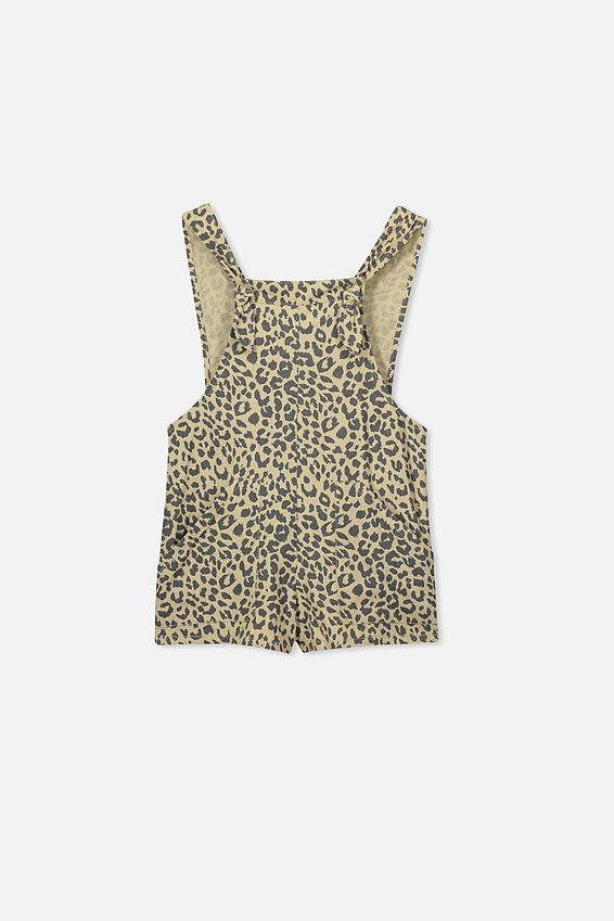 Tyra Playsuit, SEMOLINA ANIMAL PRINT
