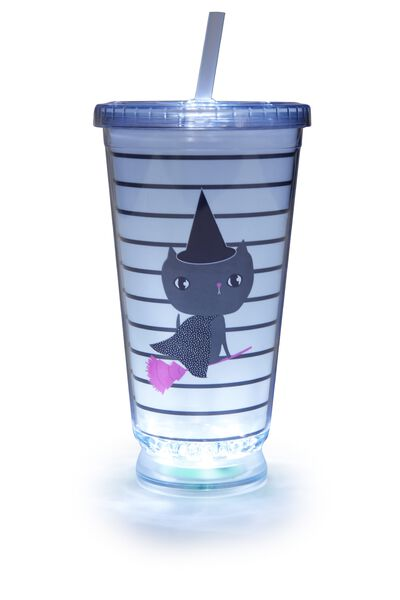 Light Up Cup, WHITE KITTY WITCH