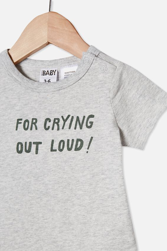 The Short Sleeve Bubbysuit, CLOUD MARLE/CRYING OUT LOUD