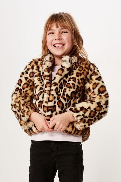 Charlie Faux Fur Jacket, ANIMAL PRINT