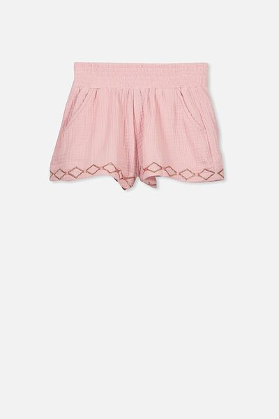 Ella Short, SILVER PINK/ROSE GOLD EMBROIDERY