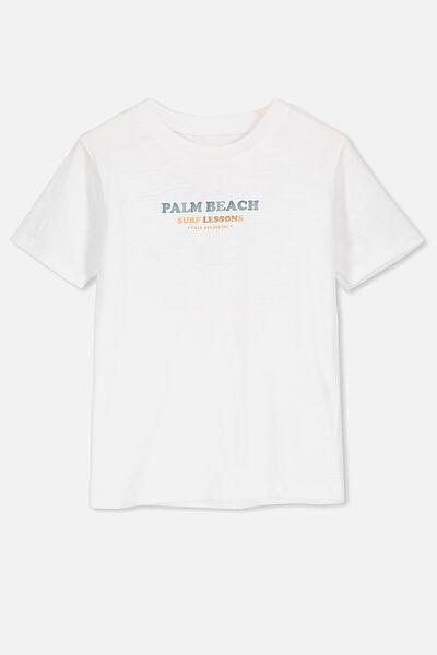 Max Skater Short Sleeve Tee, WHITE /PALM BEACH