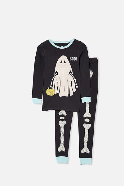 Ethan Long Sleeve Pyjama Set, SKELETON GHOST/PHANTOM
