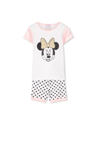 Minnie Mouse Short Sleeve PJ Set, MINNIE MOUSE GLITTER BOW