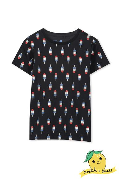 Scratch And Smell Ss Tee, PHANTOM/ICY POLE YARDAGE