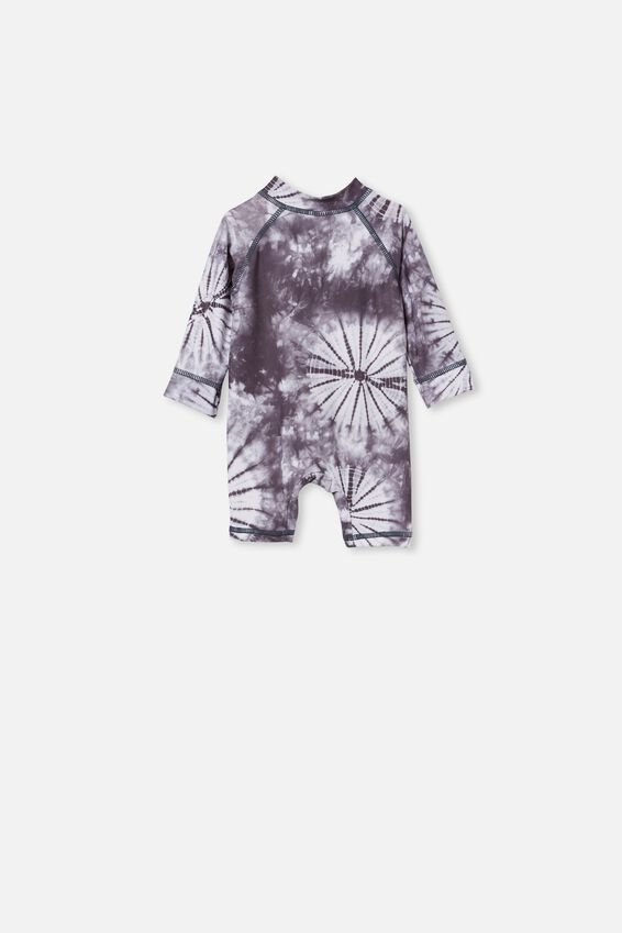 Cameron Long Sleeve Swimsuit, GRAPHITE GREY TIE DYE