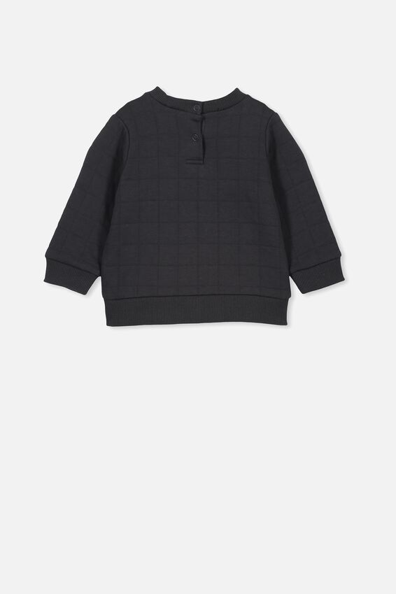 Scout Quilted Sweater, GRAPHITE GREY