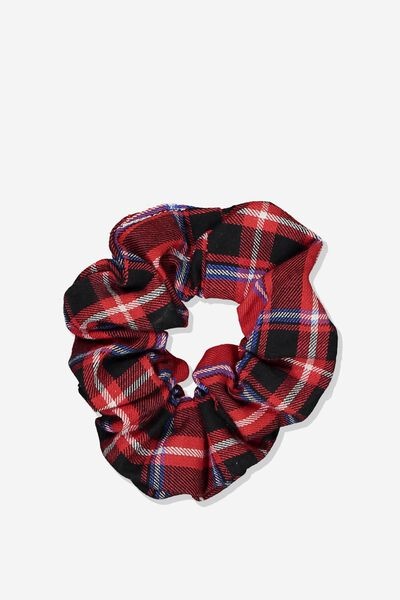 Scrunchie, RALLY RED CHECK