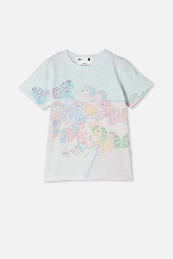 License Short Sleeve Tee, LCN HAS WHITE/MY LITTLE PONY SWEETS