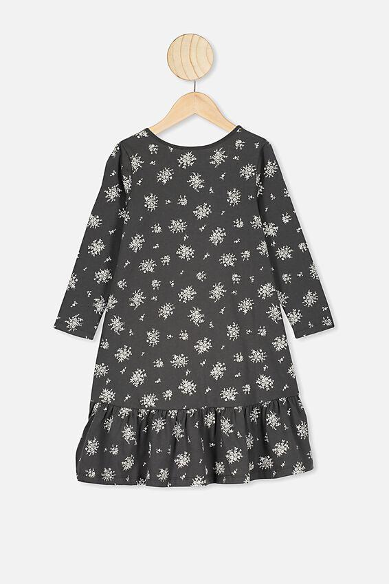 Joss Long Sleeve Dress, PHANTOM POSEY FLORAL