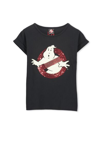 Girls Ghost Busters Short Sleeve Tee, GHOST BUSTERS/PHANTOM