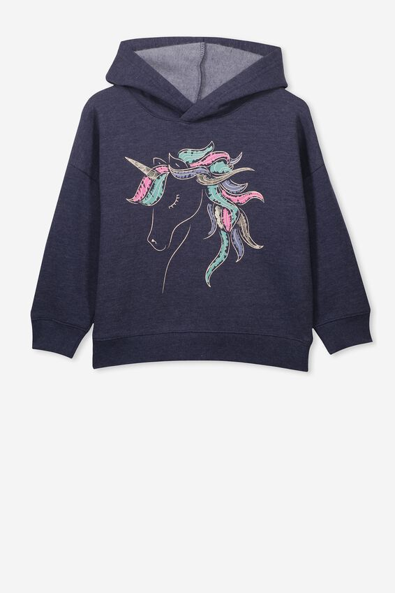 Scarlett Hoodie, NAVY MARLE/SHINY UNICORN/DROP