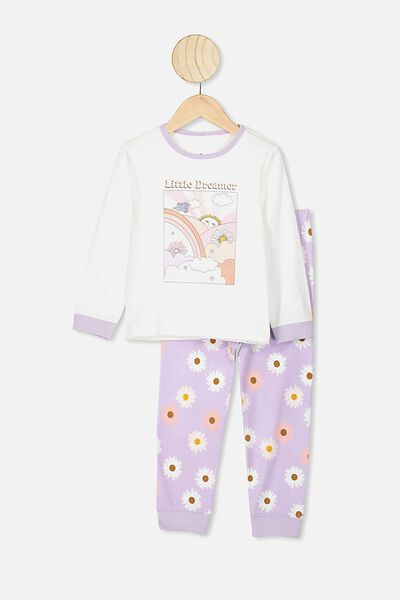 Florence Long Sleeve Pj Set, VANILLA/VINTAGE LILAC LITTLE DREAMER