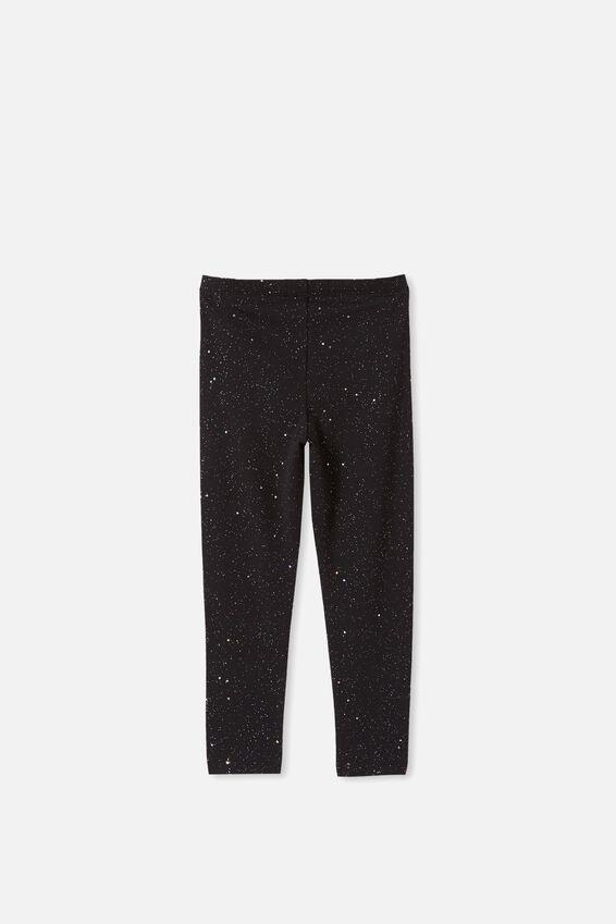 Huggie Leggings, BLACK HOLOGRAPHIC SPECKLE