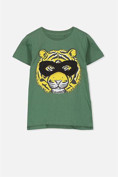 Max Short Sleeve Tee, TIGER 3D MASK/SIS