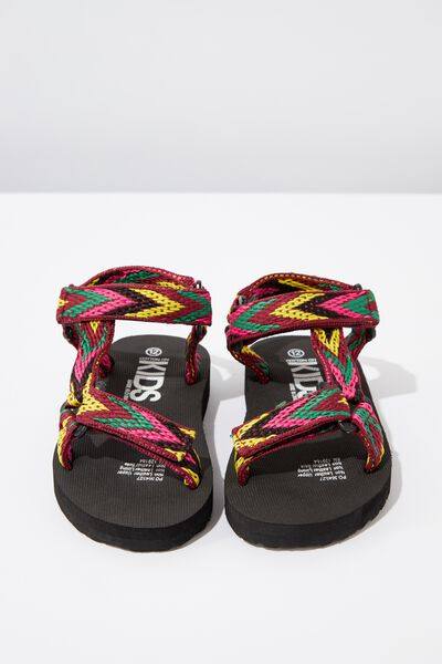 Charlie Woven Strap Sandal, PINK MULTI