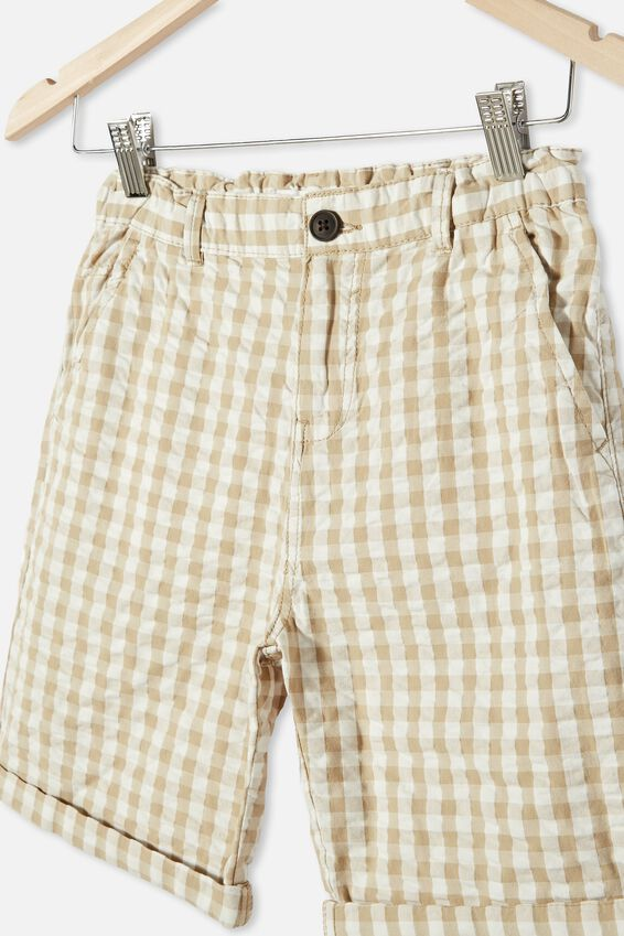 Walker Chino Short, GINGHAM CHECK / WASHED STONE