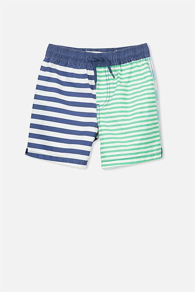 Murphy Swim Short, BLUE/MULTI STRIPE PANELS