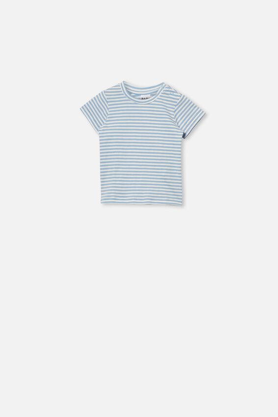 Jamie Short Sleeve Tee, CHRIS STRIPE POWDER PUFF BLUE/VANILLA
