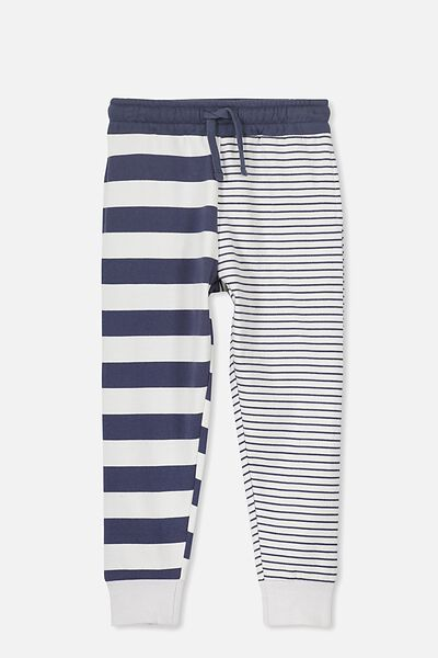 Lewis Trackpant, LUNA ROCK/WASHED NAVY MIXED STRIPE YD