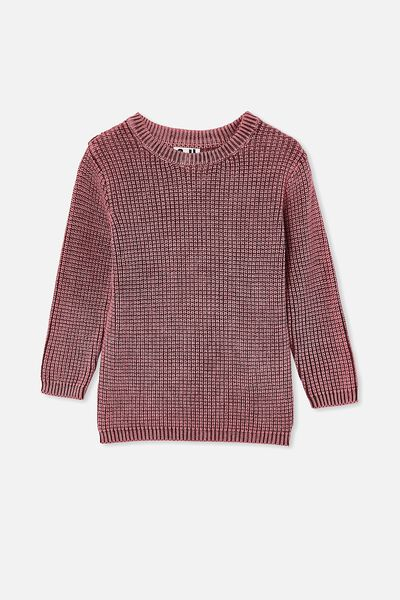 Blake Knit, WASHED VINTAGE BERRY