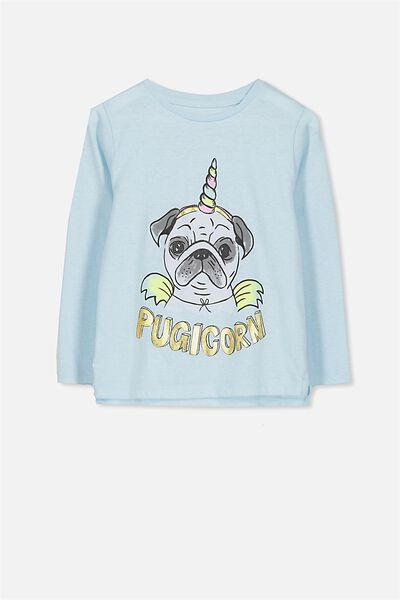 Penelope Long Sleeve Tee, CORDYALIS BLUE MARLE/PUGICORN/SET IN