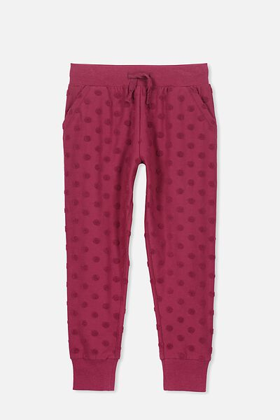 Kikii Trackpant, GRAPE/TEXTURED SPOT