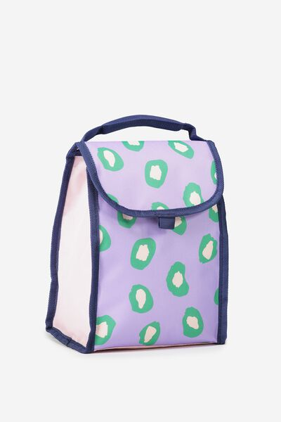 Kids Foldable Lunchbag, PURPLE ANIMAL
