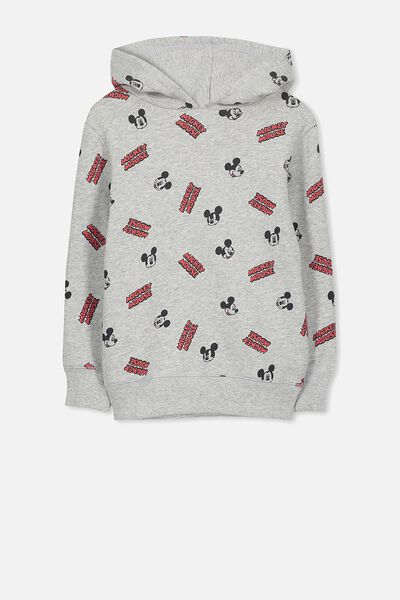 License Hoodie, LT GREY MARLE/MICKEY YARDAGE