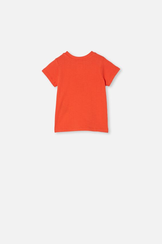 Jamie Short Sleeve Tee, RED ORANGE/LUCKY OX