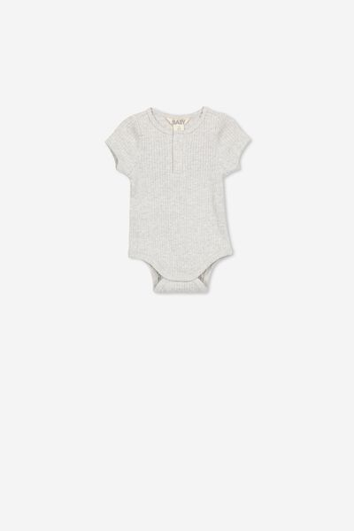 The Short Sleeve Button Bubbysuit, CLOUD MARLE