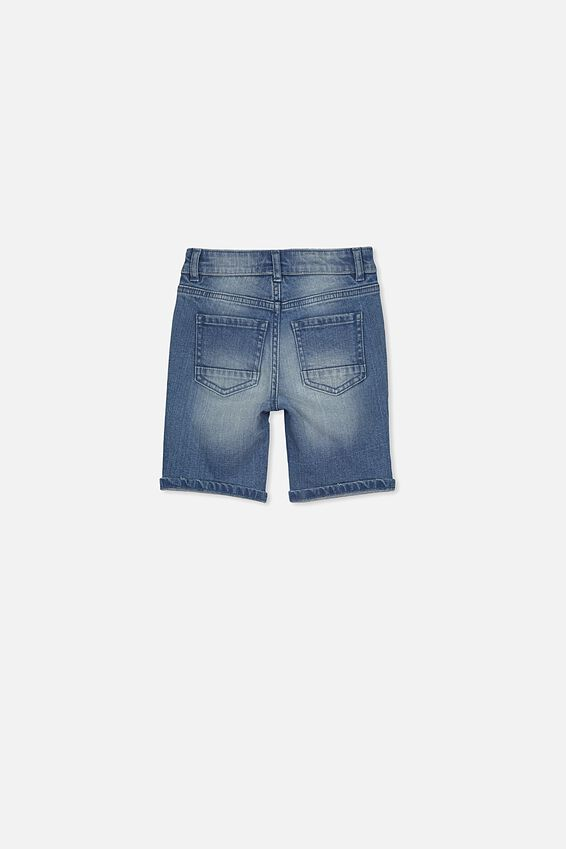 Bermuda Dnm Short, MID WASH