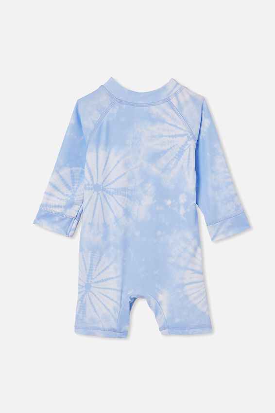 Cameron Long Sleeve Swimsuit, DUSK BLUE/TIE DYE