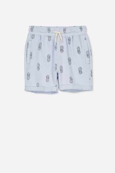 Henry Slouch Short, ARCTIC BLUE/PINEAPPLES