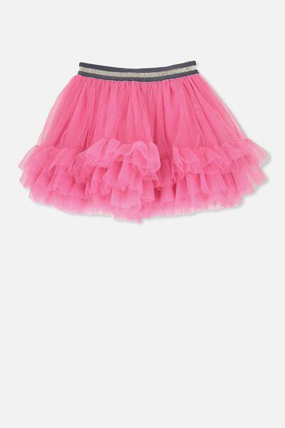 Trixiebelle Tulle Skirt, CARMINE ROSE