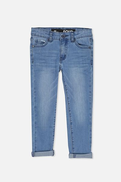 Ollie Slim Leg Jean, LIGHT BLUE WASH