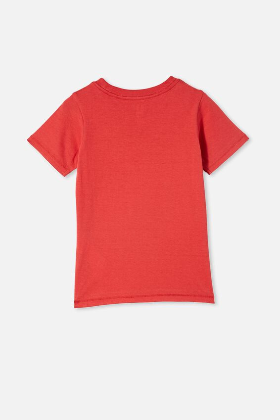 Max Short Sleeve Tee, LUCKY RED/DINO