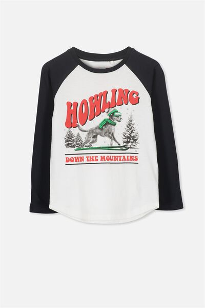 Tom Long Sleeve Tee, HOWLING MOUNTAINS/RAGLAN