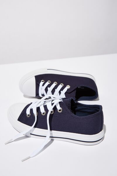 Classic Trainer Lace Up, NAVY