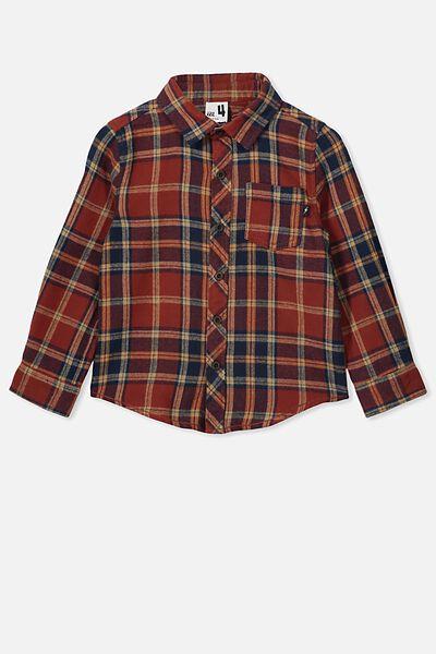 Rugged Long Sleeve Shirt, AUTUMN PLAID