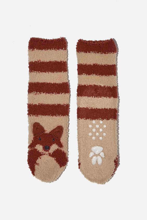 Slipper Sock, CHUTNEY FOX