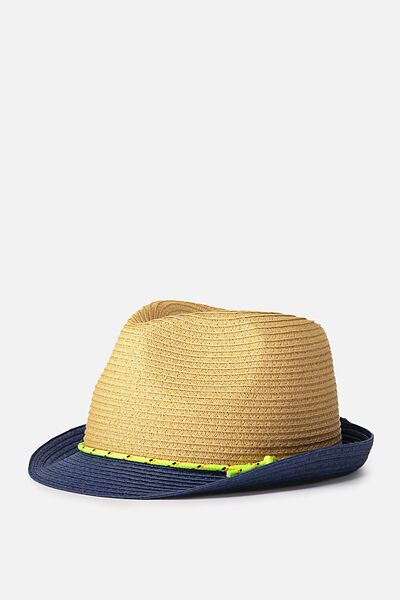 Trilby Hat, NEON CORD