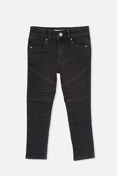 Carrie Moto Jean, WASHED BLACK