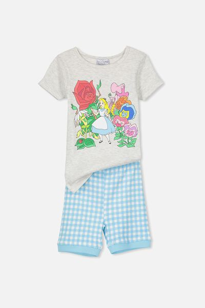 Nicole Short Sleeve Girls Pj, ALICE IN WONDERLAND GARDEN