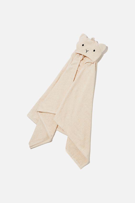 Baby Snuggle Towel, CARAMEL MARLE BEAR