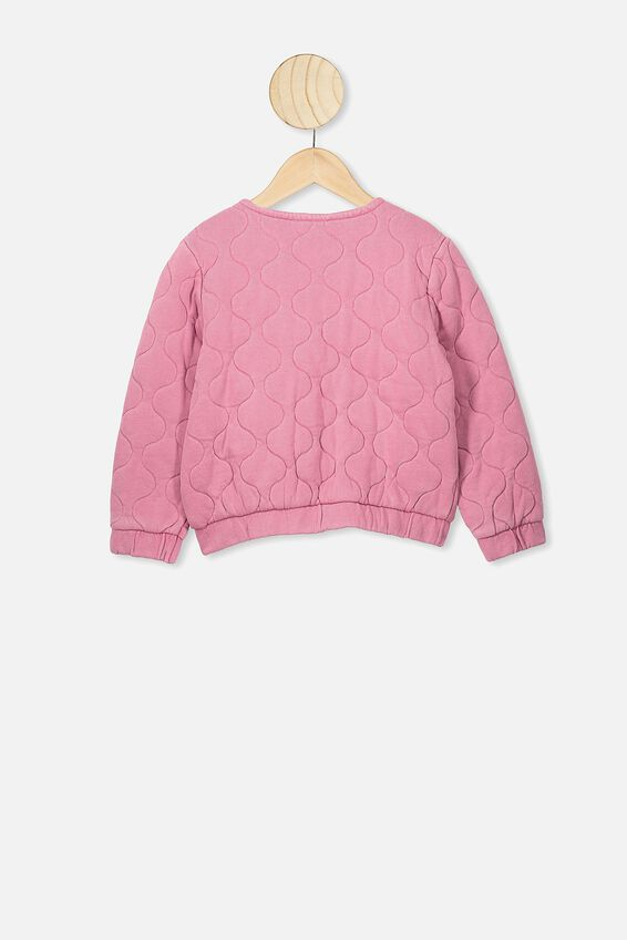 Brielle Bomber Jacket, VERY BERRY