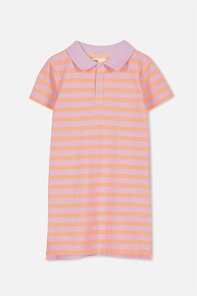Blaire Polo Dress, WILD PUNCH/LILAC STRIPE