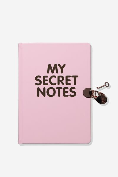 Sunny Buddy A5 Secret Notebook, PINK SECRET